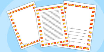 Spanish Flag Page Borders - spanish, flag, page borders, borders