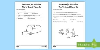 Northern Ireland Linguistic Phonics Stage 5 and 6, Phase 3a and 3b, 'e' Dictation Sentences Activity - Linguistic Phonics, Stage 5, Stage 6, Phase 3a, Phase 3b, Northern Ireland, sentences, dictation, wo