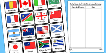 Rugy coupe du monde kit de jeu de balayage French - french, rugby world cup, sweepstick