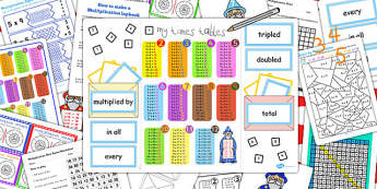 Multiplication Lapbook Creation Pack - multiplication, lapbooks