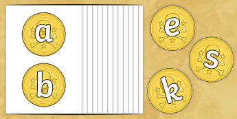 A Z on Gold Coins - a-z, alphabet, alphabet display, coins, money