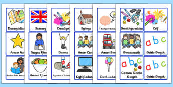 Visual Timetable for KS1 Welsh - welsh, visual timetable, ks1, wales, visual, timetable