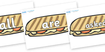 Tricky Words on Panninis - Tricky words, DfES Letters and Sounds, Letters and sounds, display, words