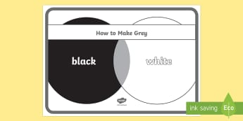 How to Make Grey Poster - colour mixing, how to make, colours