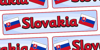 Slovakia Display Banner - Slovakia, Olympics, Olympic Games, sports, Olympic, London, 2012, display, banner, sign, poster, activity, Olympic torch, flag, countries, medal, Olympic Rings, mascots, flame, compete, events, tennis, athlete, swimming