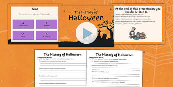 History of Halloween PowerPoint and Differentiated Reading Comprehension Activity - roi, irish, republic of ireland