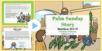 Palm Sunday Story PowerPoint Polish Translation - polish, christianity, powerpoints, stories
