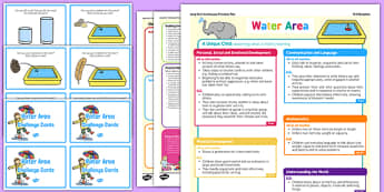 Water Area Continuous Provision Plan Poster and Challenge Cards Pack Reception FS2