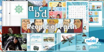 PlanIt - RE Year 4 - People of Faith Additional Resources - Beliefs, life, impact, examine, Malala Yousafzai, Dalai Lama, Rabbi Jonathan Sacks, Fauja Singh, J K