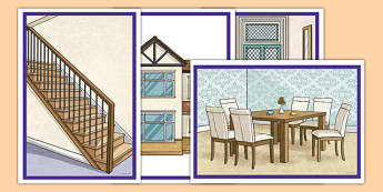 Home Picture Flashcards French - french, home, houses and homes, house, picture, flash cards