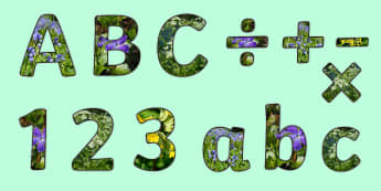 Spring Flowers Display Lettering - Spring, seasons, weather, spring flowers, flowers, plants, living things, growing things