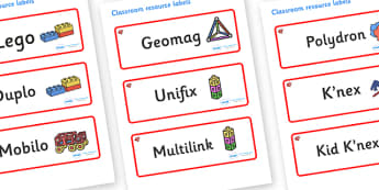 Ruby Themed Editable Construction Area Resource Labels - Themed Construction resource labels, Label template, Resource Label, Name Labels, Editable Labels, Drawer Labels, KS1 Labels, Foundation Labels, Foundation Stage Labels