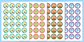 Sports Day Four Capacities Stickers - Sport's Day, Four capacities, Stickers, sports day, summer events, cfe sport, cfe health and wellbe