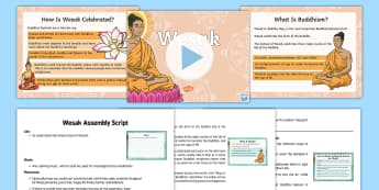 KS2 Wesak Assembly Pack - wesak, vesak,  Wesak, assembly, whole school, collective worship, Buddhism, Buddha, birthday