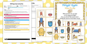 EYFS Sloppy Porridge Finger Gym Activity Plan - finger gym, porridge