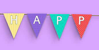 Happy 1st Birthday Bunting - 1st birthday, 1st birthday party, party, bunting, new parents, one year old, baby