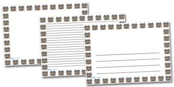 Hospital Landscape Page Borders- Landscape Page Borders - Page border, border, writing template, writing aid, writing frame, a4 border, template, templates, landscape