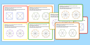 Regular Shapes Challenge Cards - challenge, cards, regular shapes, 2d, shapes, shape