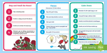 Mindfulness Display Posters - Mindfulness in the classroom mindfulness activities, mindfulness teaching resources, meditation, bre