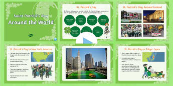 ROI St. Patrick's Day Resources: How St. Patrick's Day is Celebrated Around the World PowerPoint  - ROI - St. Patrick's Day Resources, St. Patrick's Day around the world, St. Patrick's Day in other