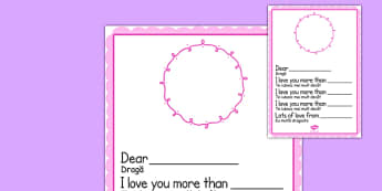 I Love You More Than Mother's Day Card Template Blank Romanian Translation - romanian, mothers day, I love you