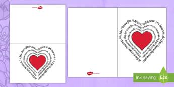 Carte : Bonne fête maman - La fête des mères - La fête des mères, cycle 2,  KS1, Mother's Day, 28th May, 28 mai, maman, carte, écrire, card, wr