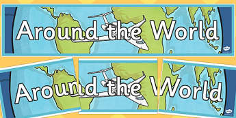 Around the World Display Banner - around the world, display banner