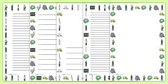 Ambulance Service Page Borders - ambulance, borders, writing