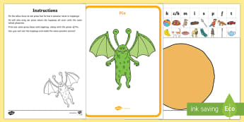 Pix's Peculiar Pizza Alliteration Resource Pack - EYFS, Phase 1, Aspect 5, Alliteration, letters and sounds, phonics, initial phoneme, same sound, mat