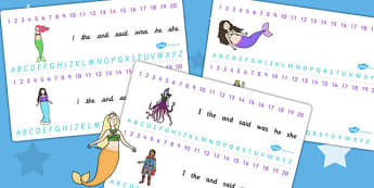 The Little Mermaid Combined Number and Alphabet Strips - stories