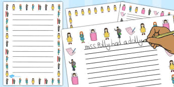 Miss Polly Had a Dolly Page Borders - Miss Polly Had a Dolly , nursery rhyme, sequencing, Literacy, writing, page border, a4 border, template, writing aid, writing border, page template, rhyme, rhyming, nursery rhyme story, nursery rhymes, doctor, pe