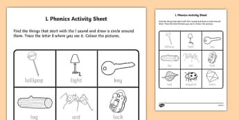 l Phonics Activity Sheet-Irish, worksheet