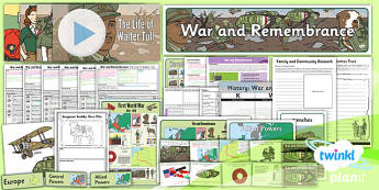 PlanIt - History KS1 - War and Remembrance Unit Pack - planit