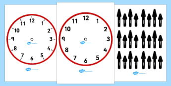Blank Analogue Clocks (with hands) - Time resource, Time vocaulary, clock face, O'clock, half past, quarter past, quarter to, shapes spaces measures, numeracy, time, clocks