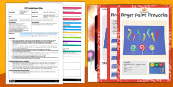 Finger Paint Fireworks Craft EYFS Adult Input Plan and Resource Pack - finger paint, fireworks, craft, eyfs, adult input, plan, pack