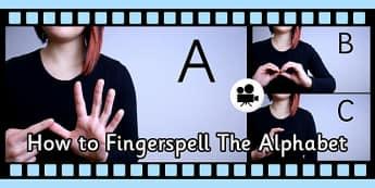 How Fingerspell Alphabet British Sign Language Close Video Clip