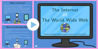 The Difference Between the Internet and World Wide Web PowerPoint