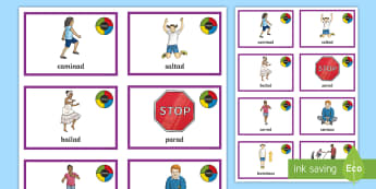 Simon Says PE Game - Spanish - Spanish, Vocabulary, KS2, instructions, commands, simon, says, game, PE, physical, education