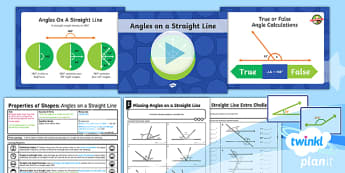 PlanIt Y6 Properties of Shape Lesson Pack - Properties of Shape, angles, 180 degrees, straight angles, angles on a straight line, acute, obtuse,