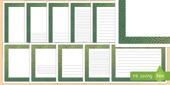 Snake Pattern Portrait Page Border - safari, safari page borders, snake page borders, snake pattern page borders, safari animal pattern page borders