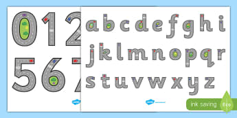 Road Themed Letter and Number Formation Display Posters - road, letter, number, formation, display, poster