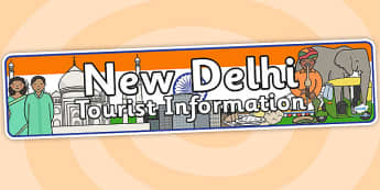 New Delhi Tourist Information Office Role Play Banner-new delhi, tourist information, role play, new delhi role play, role play banner, banner