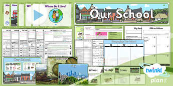 PlanIt - Geography Year 1 - Our School Unit Pack