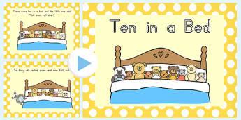 Ten In A Bed PowerPoint - powerpoints, bears, rhyme, rhymes