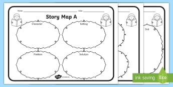 Story Map Activity Sheets Pack - story map, stories, worksheets, map, literacy, writing, mind map