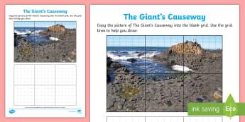 Giant's Causeway Art Activity Sheet - ROI - The World Around UsWAU, worksheet, Irish