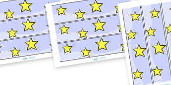 Star Display Borders - star, stars, display, borders, classroom borders, display borders, night, sky, twinkle, bright