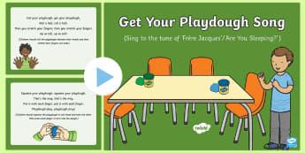 Get Your Playdough Song PowerPoint - Playdough Play, dough disco, finger gym, fine motor skills, physical development, songs