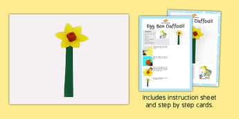 Egg Box Daffodil Craft Instructions - craft, instructions, box
