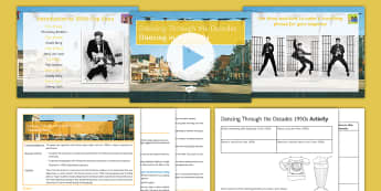 Dancing Through the Decades  Lesson 1: The 1950s - Dancing Through the Decades, 1950s dance, KS3, KS4, dance, social dance, hand jive, grease, video, s